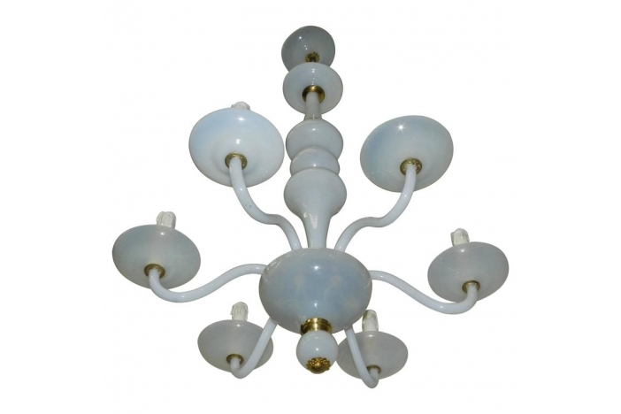 Opaline glass chandelier.