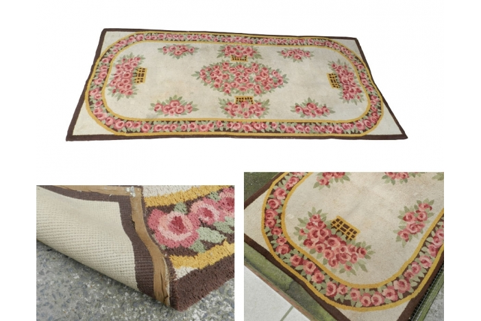 Large Art Deco woollen carpet