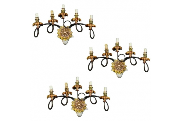 Set of Three Sconces