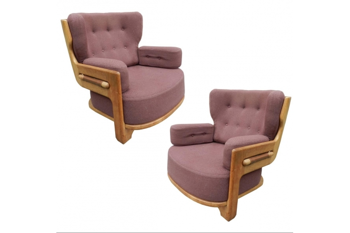 G. & C. Pair of oak armchairs