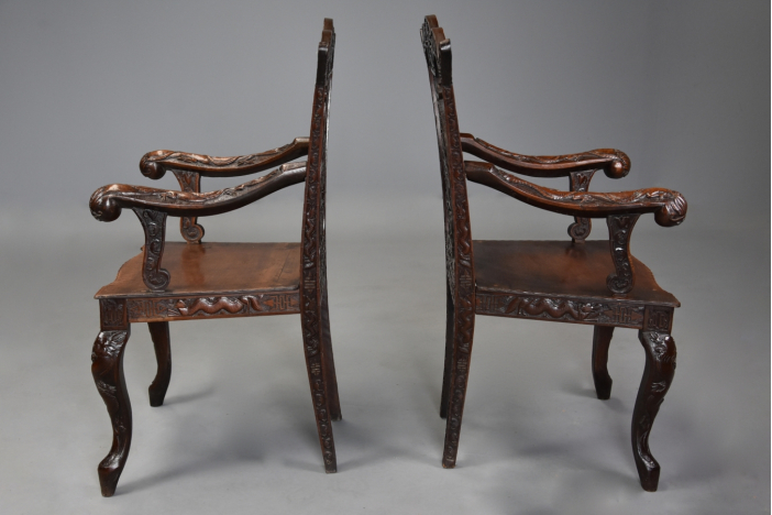Pair of Chinese style chairs