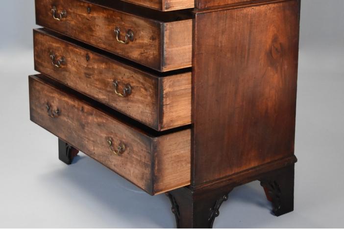18thc mahogany chest on chest