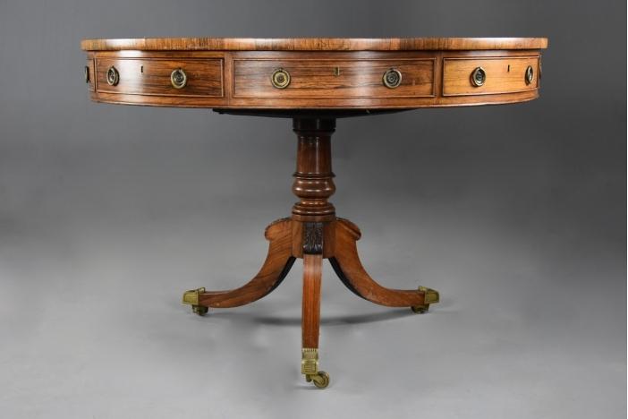 Regency rosewood drum table