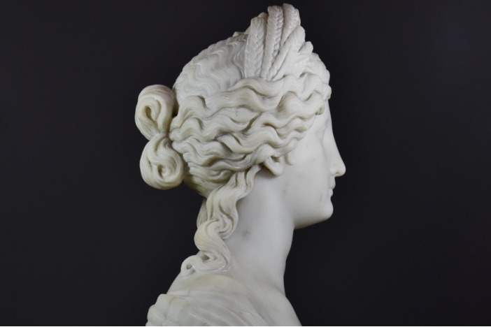 Life size marble bust of Ceres