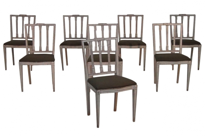 8 Gustavian Style Chairs