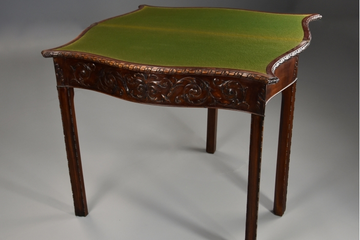 Chippendale style card table