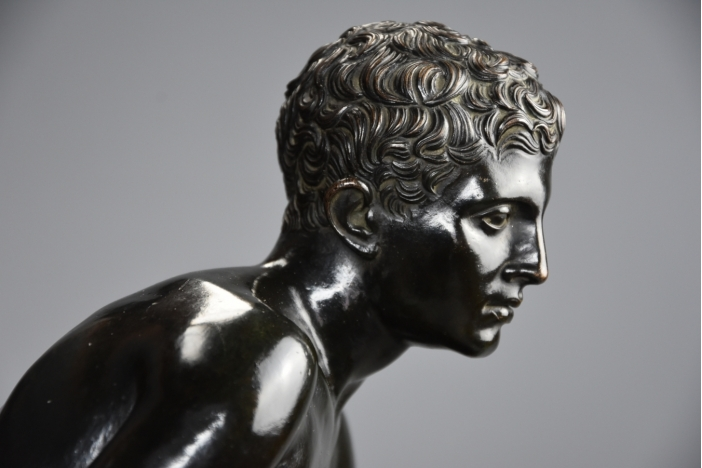 Large bronze 'Seated Hermes'