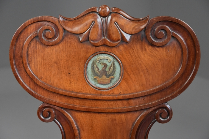 Pair of Regency hall chairs