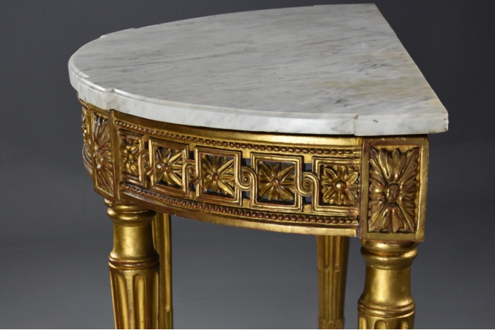 French gilt console table
