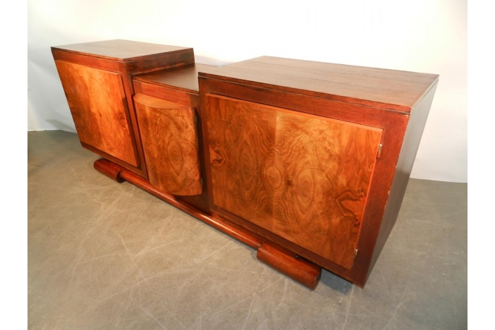 Art Deco oak walnut sideboard