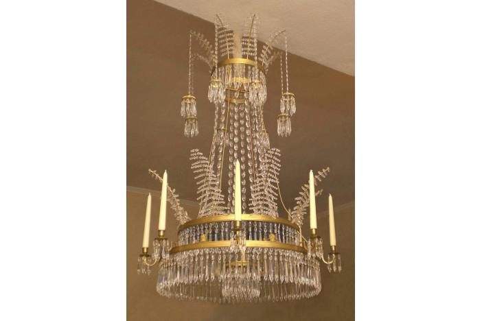 Big swedish crystal chandelier