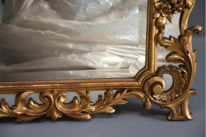 Large Italian giltwood mirror
