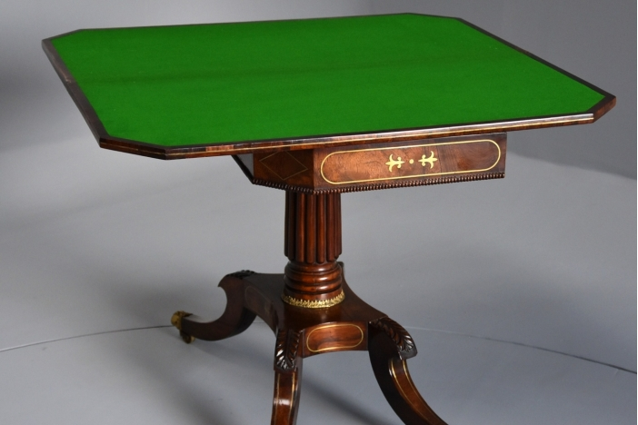 Regency rosewood card table
