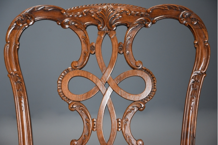 Four Chippendale style chairs