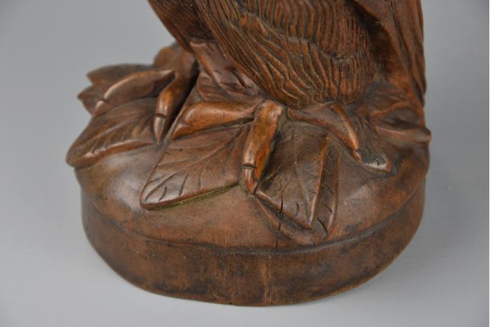 19thc Black Forest owl jar