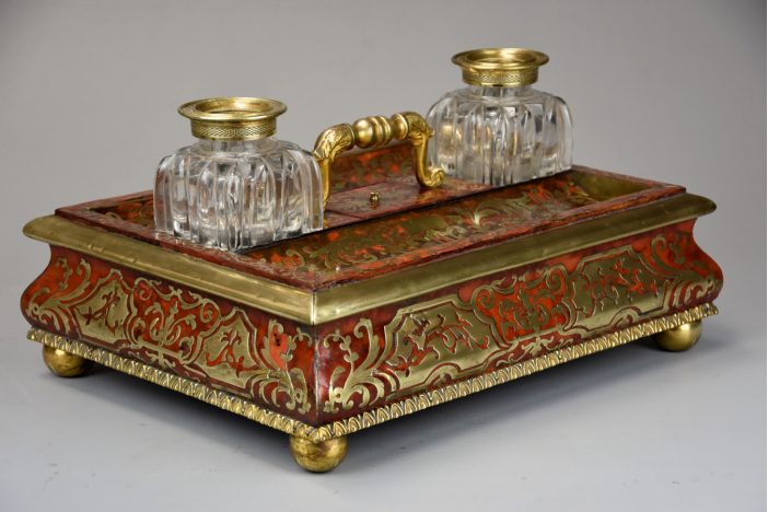 19thc boulle desk stand