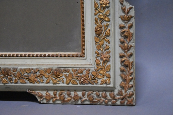 Large gilt & painted mirror