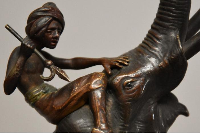 Franz Bergman elephant bronze