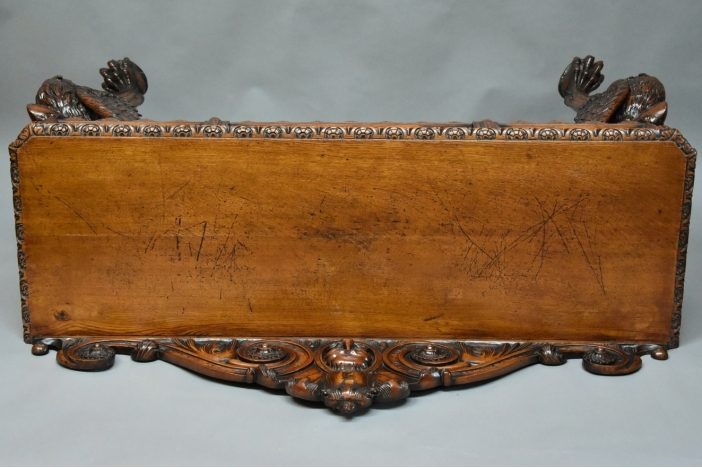 19thc carved oak hall table