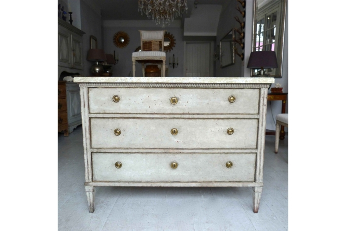 Swedish Marble Top Commode