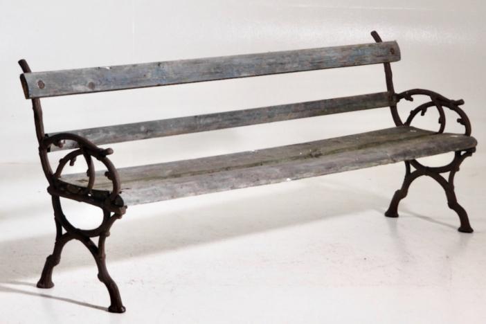 Freestanding bench, 19th C