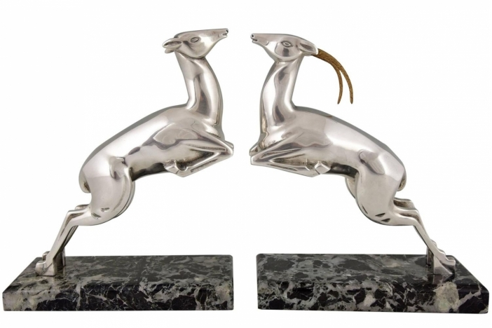 Bouraine Art Deco bookends