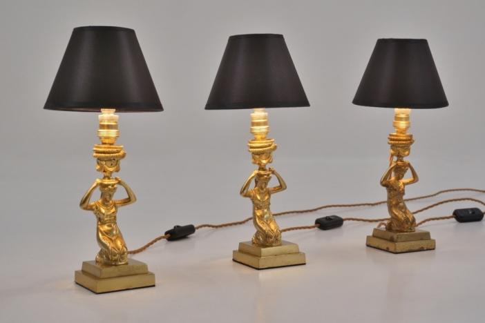 Bronze statue lamps