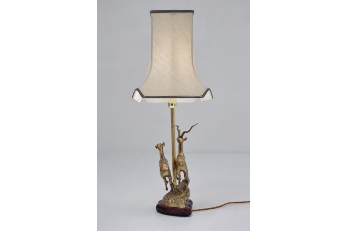 Brass deer lamp