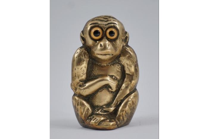 Brass monkey holder