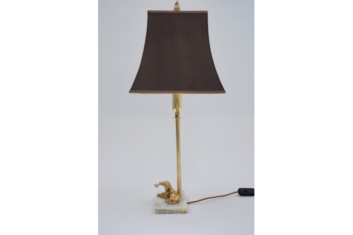 Art Deco dog lamp