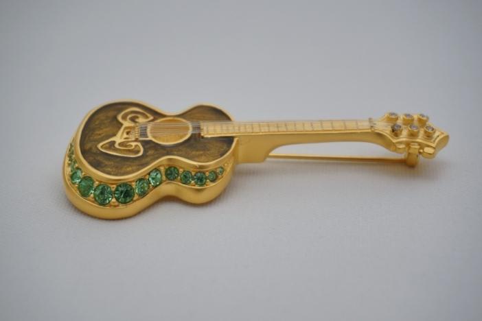 Bob Mackie Guitar pin