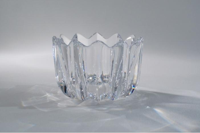 Orrefors crystal Fleur bowl