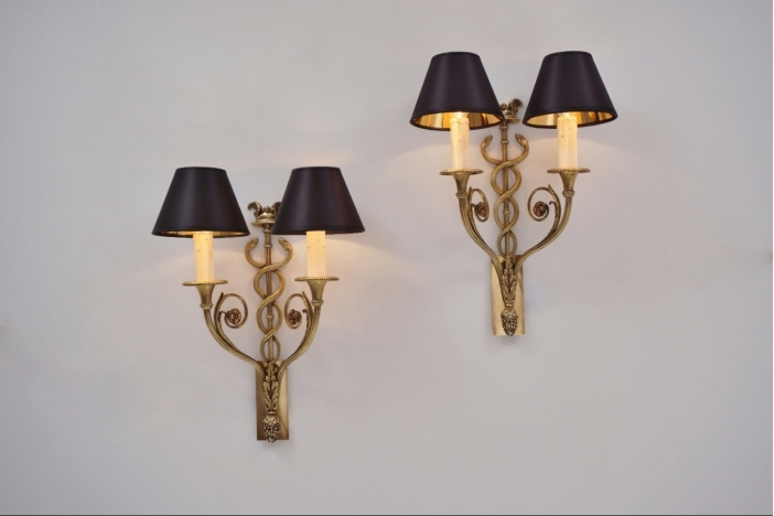 Bronze wall lights
