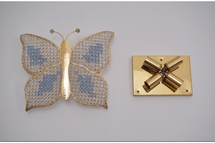 Butterfly wall light