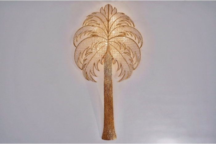 Palm tree wall light