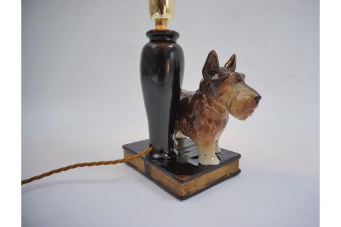 Beswick ceramic dog lamp