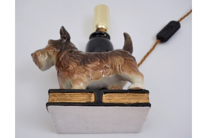 Beswick ceramic dog lamp