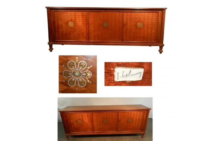 J. Leleu. Mahagony sideboard