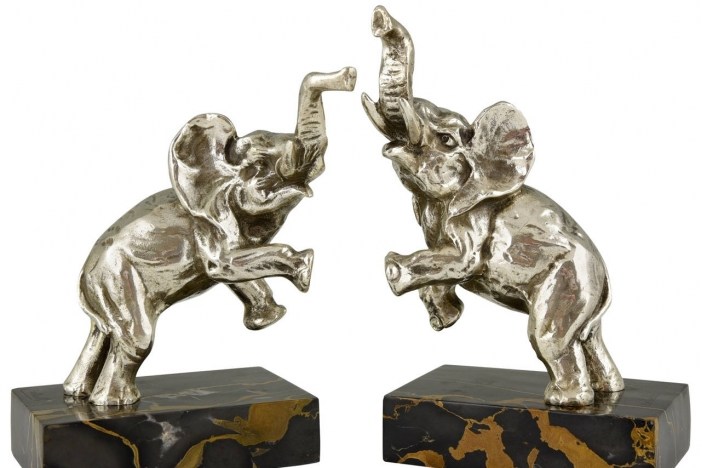 Art deco Elephant bookends