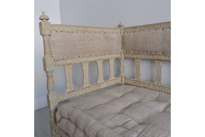 Richly Carved Gustavian Sofa