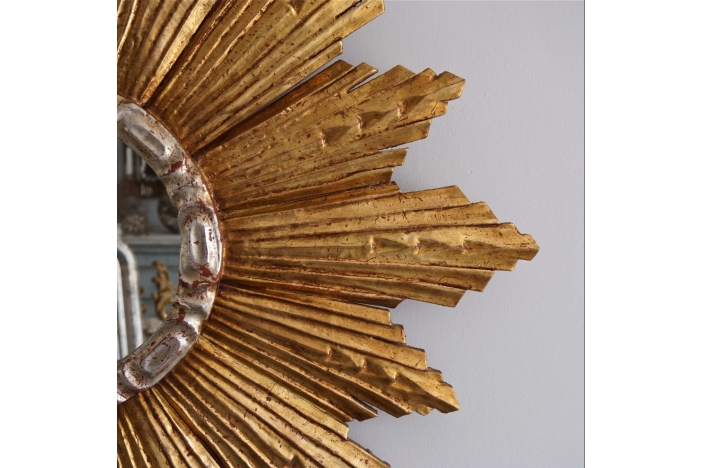 Huge 1950's Sunburst Mirror