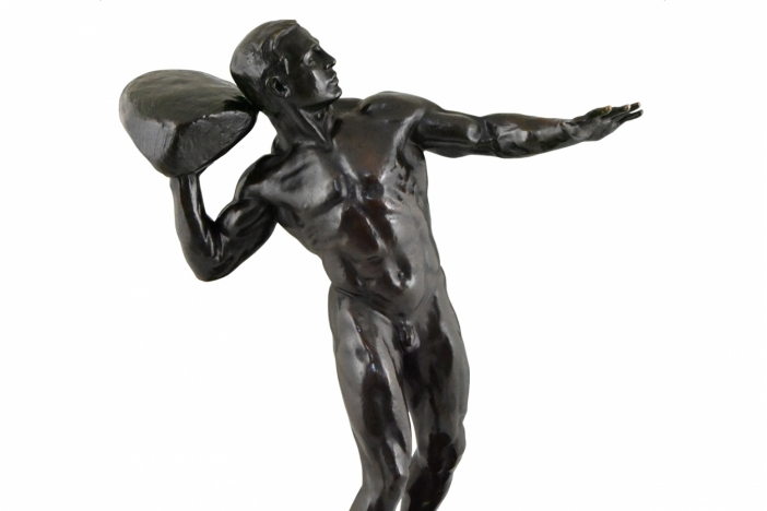Bronze male nude Siegwart