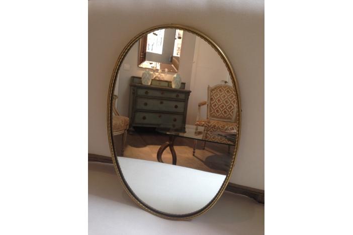 Pair of Italian Brass Mirrors