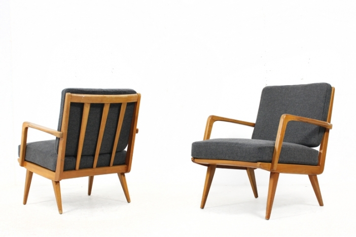 Pair of 50s easy chairs Knoll