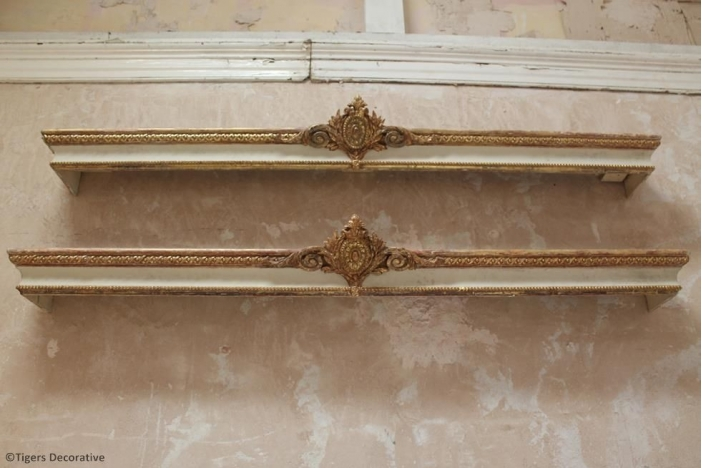 Pair of 19th C French Pelmets