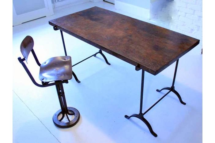 19thc Oak Trestle Table