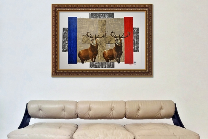 IRWIN group print, `The Flag`