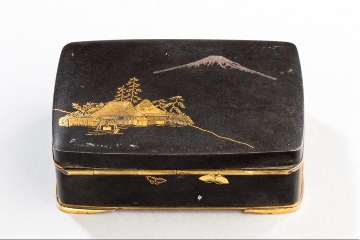 JAPANESE KOMAI INLAID IRON BOX