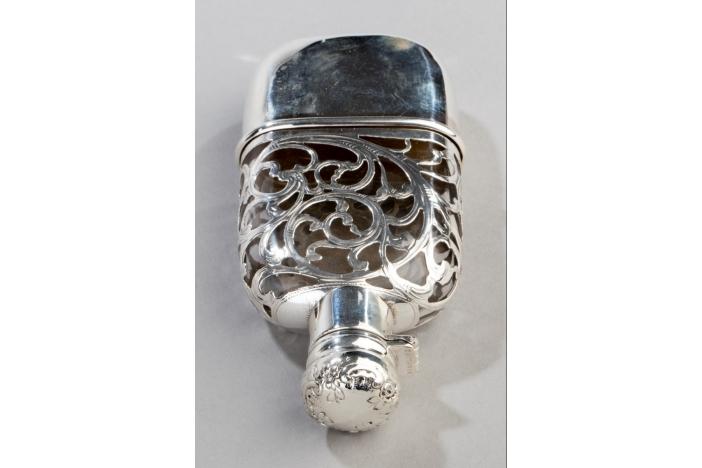 Sterling Silver Overlay Vase