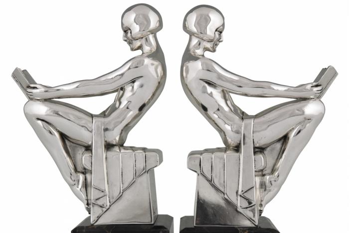 Art Deco bookends nude